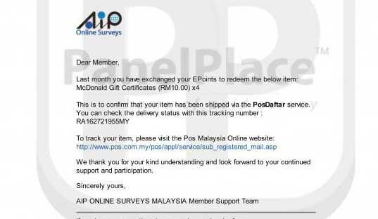 Loh Kok Beng Paid Survey Earning Proof